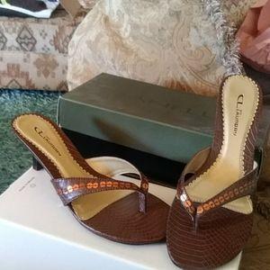 Thong style sandels.